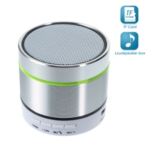 S07D Metal Skin Bluetooth Hands-free Speaker Support TF Card - Silver
