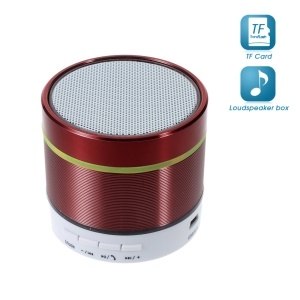 S07D Metal Skin Wireless Bluetooth Hands-free Speaker Support TF Card - Red