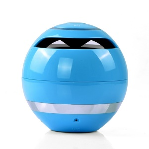 Mini Round Wireless Bluetooth Speaker Subwoofer Support Hands-free Calls for iPhone Samsung - Blue