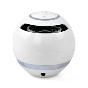 Mini Round Wireless Bluetooth Speaker with Subwoofer Support Hands-Free Phone Calls - White