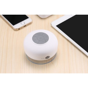 Mini Suction Cup Wireless Bluetooth Speaker Smartphone Desktop Stand for iPhone 7/7 Plus etc. - White