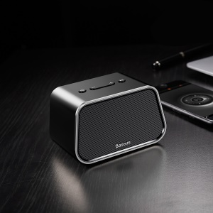 BASEUS Encok E02 Trapezoid Mini Bluetooth Speaker Support U Disk / TF Card /Aux Input - Black