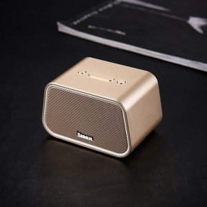 BASEUS Encok E02 Multifuctional Trapezoid Bluetooth Speaker Support U Disk / TF Card /Aux Input - Gold