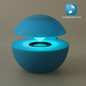 BT118 Round Stereo Bluetooth Hands-free Speaker with Colorful Lights Support TF Card - Blue