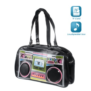 Radio Handbag Shoulder Bag Wired Speaker + Bluetooth Hands-free Speaker