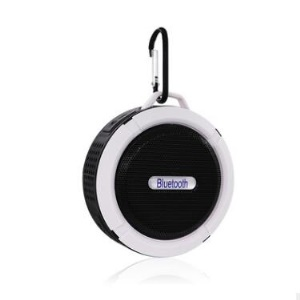 C6 Portable Outdoor Bluetooth Speaker IP65 Waterproof Shower Bluetooth Speaker for iPhone Samsung - Black / White