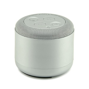 YOGEE JY-42 Mini Wireless Bluetooth Speaker with Microphone Support FM Radio/TF Card/Aux-in - Silver Color