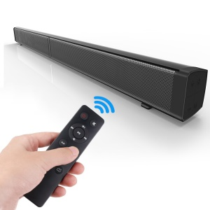 40W Wireless Bluetooth Soundbar Wall Mounted TV Sound Bar 2.0 Channel Built-in Subwoofer with Remote Controller - UK Plug