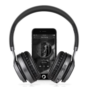 PICUN BT08 Over-ear Wireless Bluetooth Stereo Headphone with Microphone Support FM Radio - Black