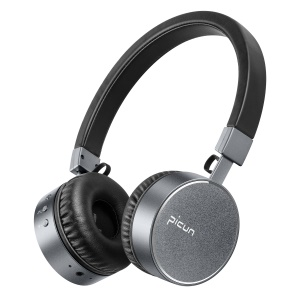 PICUN P10 Over-ear Wireless Bluetooth Stereo Headset Headphone with Microphone - Black / Grey