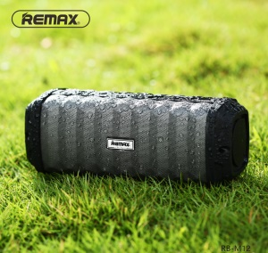 REMAX M12 IPX7 Waterproof Wireless Bluetooth Speaker Support Aux-in - Black