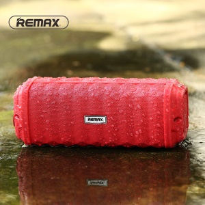 REMAX M12 IPX7 Waterproof Speaker Wireless Bluetooth Speaker Support Hands-free Aux-in - Red