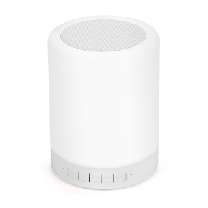 Bluetooth Stereo Sound Touch Control Speaker USB TF FM - White