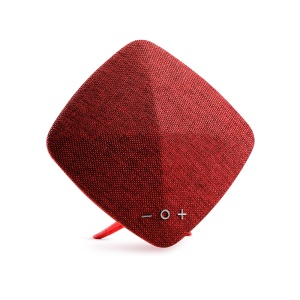 JOYROOM M03 Cloth Texture Rhombus Wireless Bluetooth Music Speaker with Mic for iPhone Samsung - Red
