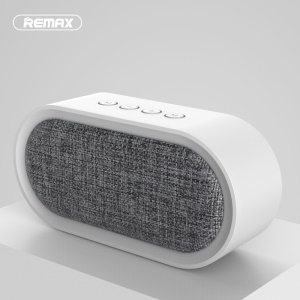 REMAX M11 Portable Fabric Bluetooth 4.2 Speaker with Microphone for iPhone Samsung - White