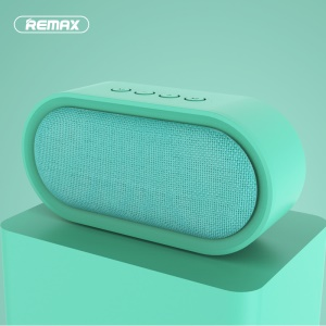 REMAX M11 Portable Fabric Bluetooth 4.2 Music Speaker with Microphone Support TF Card/AUX-in - Cyan