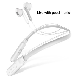 BASEUS Encok S16 Portable Bluetooth Neck Hung Wireless Earphone - White