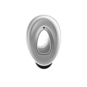 Mini Wireless Bluetooth Headphone Single In-ear Earphone with Mic for iPhone X/8/8 Plus Etc. - Silver Color