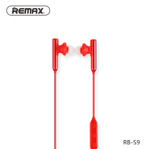 REMAX S9 Wireless Sport Headphone Bluetooth V4.1 Headset Built-in Microphone - Red