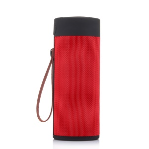 T4 Portable Cylinder Shaped Dual Speakers Bluetooth Music Speaker Support FM/TF Card/Aux-in - Red