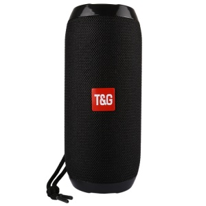 TG117 Portable Bluetooth Stereo Speaker Mesh Surface Waterproof Outdoor Speaker with Mic for iPhone X Etc. - Black