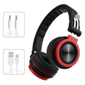 KAKUSIGA Wireless Bluetooth 4.2 Sports Over-ear Headphone with Mic Supports TF Card/Aux-in - Black