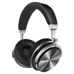 BLUEDIO T4 Active Noise Cancelling Over-ear Swiveling Wireless Bluetooth Headphone with Mic - Black