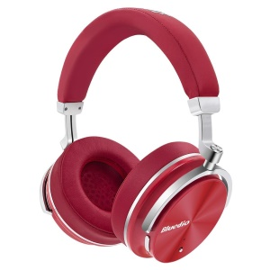 BLUEDIO T4 Active Noise Cancelling Over-ear Sports Wireless Bluetooth Earphone with Mic - Red