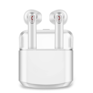 BTH-X8 TWS Lightweight Wireless Stereo Bluetooth Earphones with Charging Case Box - White