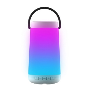 NR2000 Colorful Subwoofer Bluetooth Speaker with Mic Support FM/TF Card/Aux-in - White