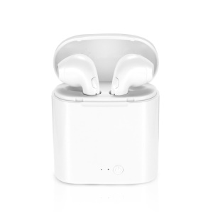 i7 TWS In-ear Wireless Bluetooth 4.1 Stereo Double Headphones with Charging Case for iPhone Samsung  - White