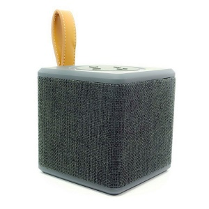 NR1016 Square Shaped Cloth Surface Portable Bluetooth 2.1 Handsfree Speaker with Mic Support TF Card - Blue