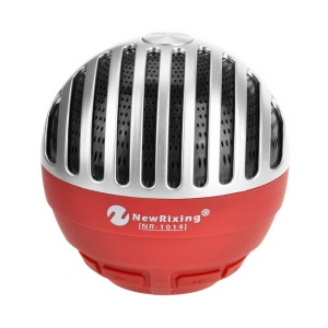 NR-1014 Creative Portable Rechargable Wireless Bluetooth 3.0 Mini Louder Speaker with Mic - Red