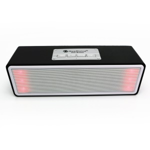 HYBT95 Cuboid Shape LED Color Light Wooden Wireless Bluetooth Speaker Support Hands-free Phone Calls - Black