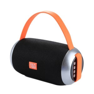 TG112 Portable Bluetooth Speaker with Mic & FM Radio Function Support Hands-free & TF Card & U Disk Play - Black