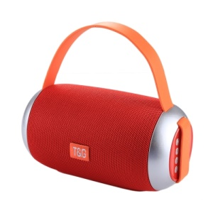TG112 Portable Bluetooth 4.2 Speaker with Mic & FM Radio Function Support Hands-free & TF Card & U Disk Play - Red