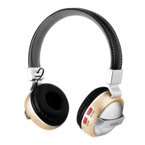 BTH-868 Foldable Over-ear Bluetooth 4.2 Headphone with TF Card Slot/Aux-in - Gold