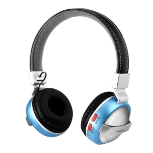 BTH-868 Lightweight Foldable Over-ear Bluetooth 4.2 Earphone with TF Card Slot/Aux-in - Blue