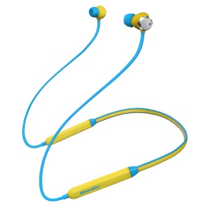 BLUEDIO TN Active Noise Canceling Bluetooth V4.2 Stereo Sports Neckband Headphone - Baby Blue / Yellow