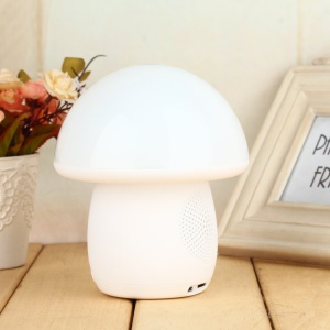 T6 Mushroom Bluetooth Speaker with Mic TF Card Slot Touch LED Night Light