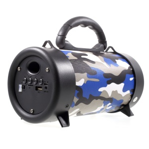 M58 Multifunctional Portable Bluetooth Wireless Speaker Support U Disk / TF Card / Aux-in / FM with Microphone - Blue Camouflage