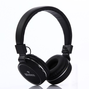 KD19 Over-ear Bluetooth 4.2 Stereo Headphone with Mic Support TF Card - Black