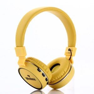 KD19 Over-ear Stereo Bluetooth Headset with Mic Support FM - Yellow