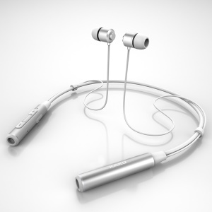 KAKU Di-sheng Series Bluetooth V4.2 In-ear Wireless Neckband Sport Headset with Magnet Attraction - Silver