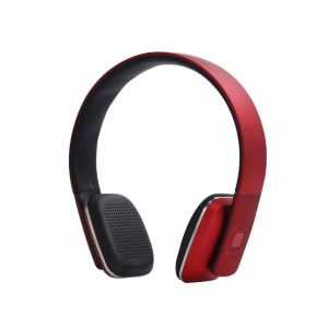LC-8600 Adjustable Stereo Over-ear Bluetooth Headset with Aux-in - Red