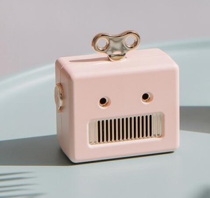 307 Portable Mini Robot Wireless Bluetooth Speakers Stereo Sound Box for Xiaomi Huawei - Pink