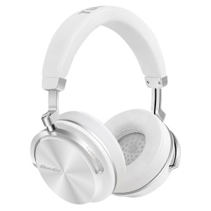 BLUEDIO T4S Over-ear Wireless Bluetooth 4.2 Active Noise Cancelling Headphone Headset with Mic - White