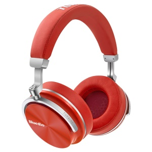 BLUEDIO T4S Over-ear Active Noise Cancelling HiFi Stereo Bluetooth Headset - Red