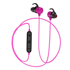 K8 Magnetic Attraction Stereo Bluetooth Sports Headset with Mic for iPhone Samsung Huawei Etc. - Rose