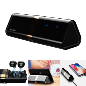 B2 Mini Bluetooth V4.2 Wireless Binaural Earphone with Charging Case Phone Holder
